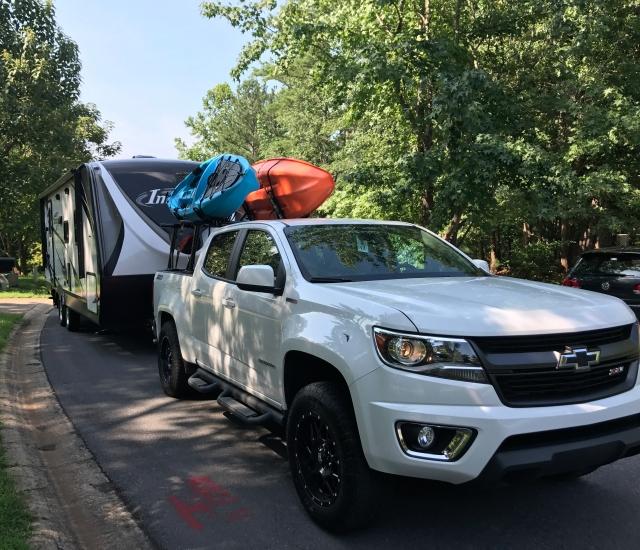 Kayaks Camper Setup
