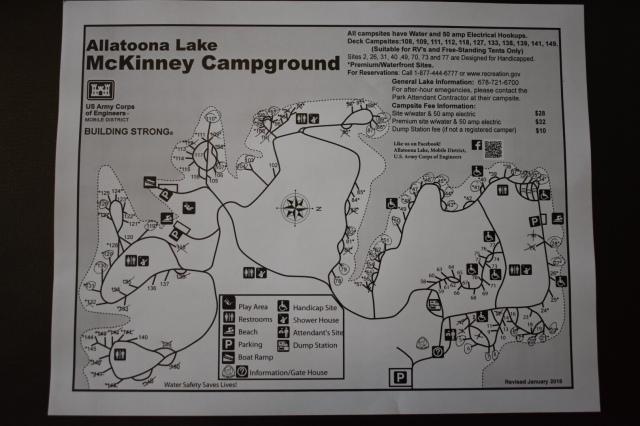 McKinney Campground Map