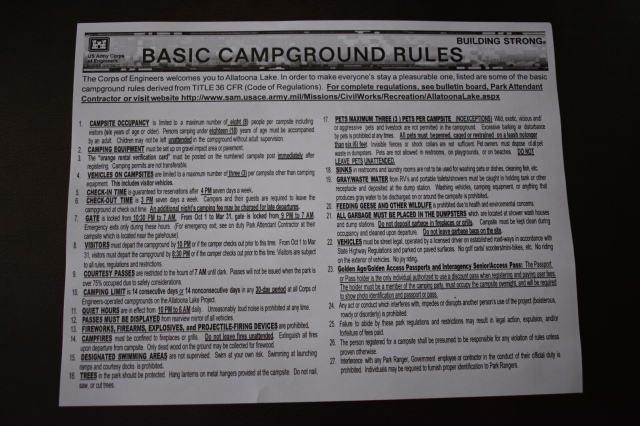 McKinney Campground Rules