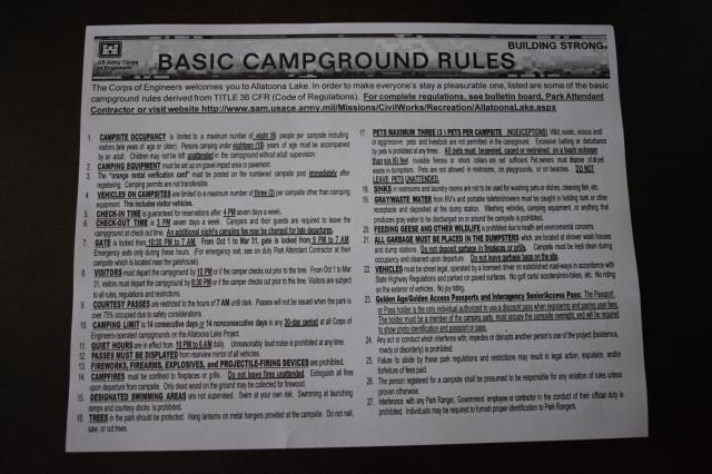 McKinney Campground Rules