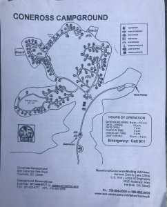 Coneross Campground Map