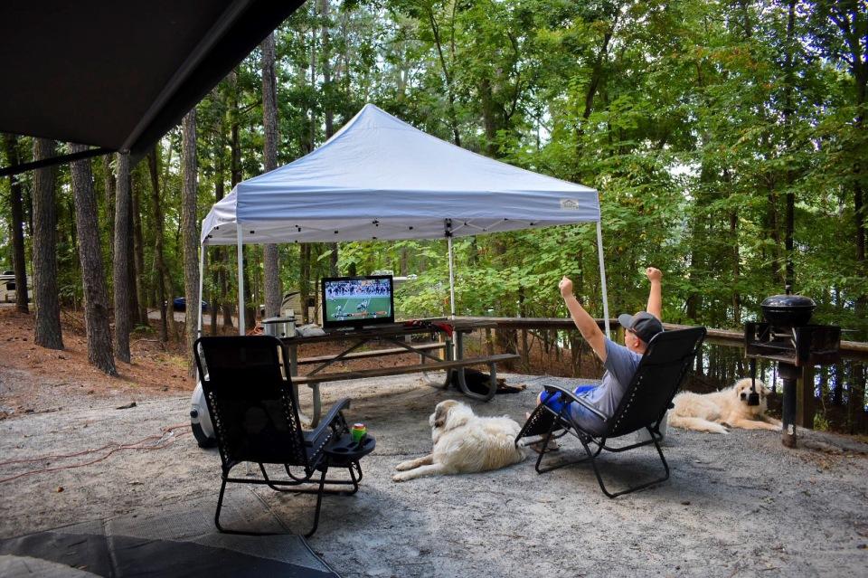 Camping-Football
