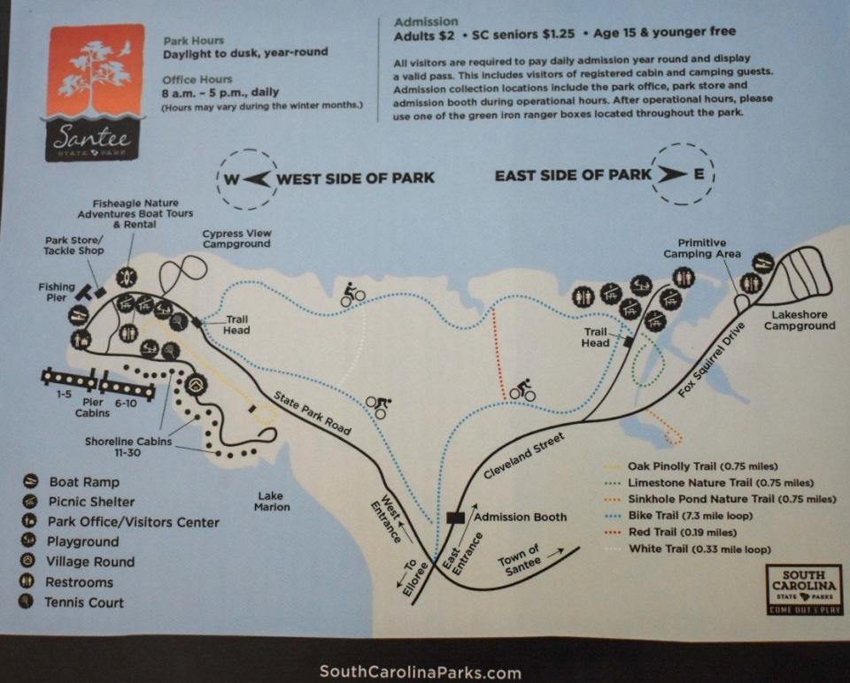 santee-state-park-map
